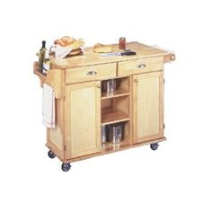 Lowest price online on all Home Styles Furniture Napa Kitchen Cart in Natural Finish - Rolling Kitchen Cart, Kitchen Storage Cart, Kitchen Carts, Kitchen Organization, Wood Kitchen Island, Kitchen Islands, Kitchen Reno, Kitchen Stuff, Kitchen Ideas