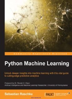 Using Python For Machine Learning Free Pdf Download Books To
