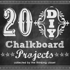 20 DIY Chalkboard Projects | A roundup of some of the best chalkboard projects blogland has to offer. From home decor to Christmas ornaments, there's something for everyone.