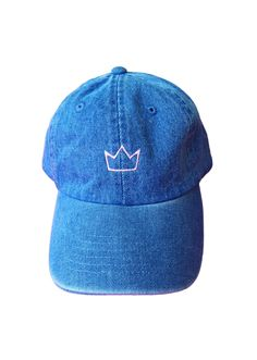 Turn heads in these statement-making, slogan hats from @StyleCaster | Denim Crown Hat, $29; at Millioneiress