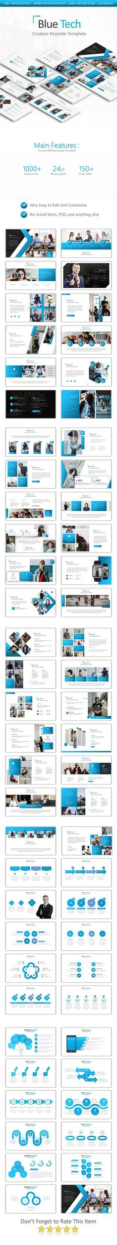 Buy Blue Tech Keynote Template by Pro_Tools_Design on GraphicRiver. Main Fitures: Unique Slides Based on Placeholders HD Display Keynote Files Vector Icons Highly Editab. Professional Powerpoint Templates, Business Powerpoint Templates, Keynote Template, Presentation Design Template, Design Templates, Tool Design, Tech, Typography, Social Media