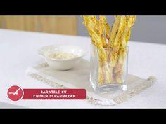 Reteta - Saratele cu chimen si parmezan   Bucataras TV - YouTube Parmezan, Quick Snacks, Make It Yourself, Breakfast, Youtube, Youtubers