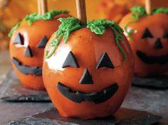 Jackolantern Pumpkin Toffee Apples