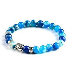 Buddha Bracelet   Ocean Blue