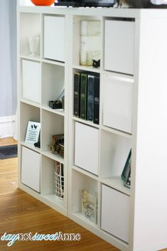 "IKEA Hackers: DIY Expedit ""doors"" are really 12 inch canvas'.  They could be painted for a great custom look!"