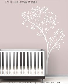 Spring Tree Wall Decal - Delicate tree decal - Kids Wall Decor by LeoLittleLion on Etsy Canopy Bedroom, Diy Canopy, Tree Canopy, Hotel Canopy, Canopy Lights, Canopy Tent, Wall Stickers, Wall Decals, Sticker Vinyl