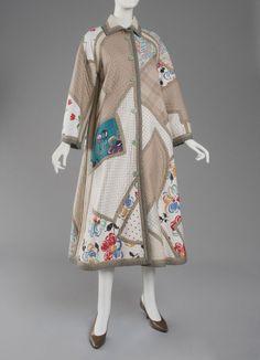 Woman's coat   Designed by Koos van den Akker (American, born The Netherlands)   Netherlands, Europe, 1965   Wool plain weave and printed cotton plain weave appliqué   Philadelphia Museum of Art