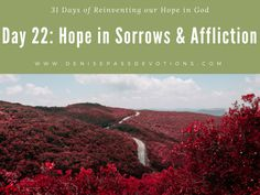 """""""Our Daily Bread"""" The Daily Devotions of Greg Laurie Written by Denise Pass for """"Seeing Deep Ministries"""" @ Original post @ Day 22: Hope in Sorrows &Affliction OCTOBER…"""