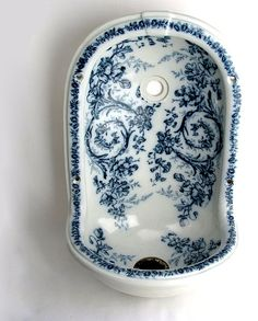 from Troy Dea Brown on Ruby Lane Blue And White China, Love Blue, Blue China, Victorian Bathroom, Victorian Homes, White Porcelain, Shades Of Blue, Decoration, Pots