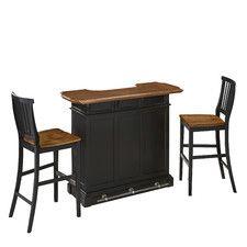 3-Piece Americana Home Bar Set