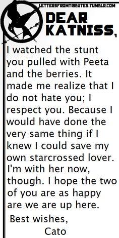 Dear katniss From Cato