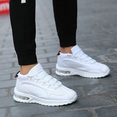 Summer Men Outdoor Sneakers Solid Casual Fashion Mesh Running Shoes casual shoes men sneakers sport shoes men 2018, #men #menshoes #sneaker #boot #menfashion #MensBoots #MensCasualShoes #CasualShoes #Loafers #Oxfords White Shoes Men, Black High Top Shoes, White Leather Shoes, Casual Leather Shoes, Casual Shoes, Summer Sneakers, Casual Sneakers, Men Sneakers, Fall Shoes