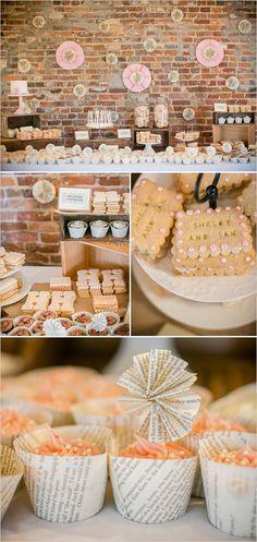 handmade dessert table