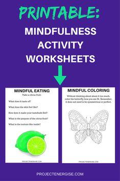 20 fun printable mindfulness worksheets for mindful awareness