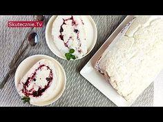 Rolada bezowa z lekkim kremem i owocami leśnymi :: Skutecznie.Tv - YouTube Sweet Tooth, Ice Cream, Sweets, Cheese, Youtube, Ice, Bakken, Kaffee, No Churn Ice Cream