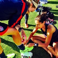 Tie each other's cleats…   32 Reasons The U.S. Women's Soccer Team Is #SquadGoals Defined