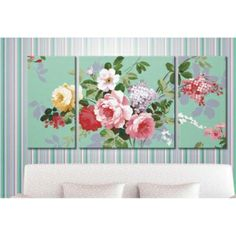 Flowers Set of Three Paint by Number Kit RH16002