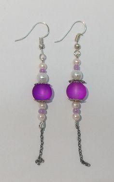 Handmade earrings  #purple #earrings #handmade