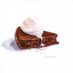 Eclair au chocolat original peinture nature morte art for Peinture alimentaire cuisine