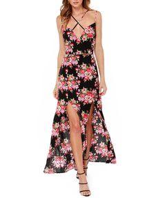 Floral Print Slit Dress