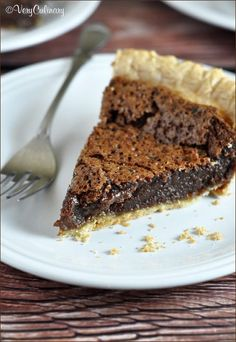 Easy Chocolate Pie - only 6 ingredients and 5 minutes of prep!