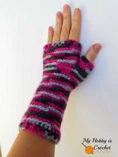 Bella Bricks Crochet Wristers/ Wrist Warmers - Free Crochet Pattern
