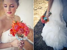 Tangerine and Turquoise Rustic Styled Shoot