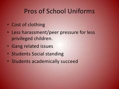 student uniform debate