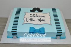 12.little man baby shower cake