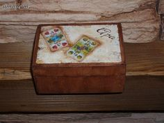 """Box for hungarian cards - """"Dad"""" II. Decorative Boxes, Cards, Home Decor, Decoration Home, Room Decor, Maps, Home Interior Design, Playing Cards, Decorative Storage Boxes"""