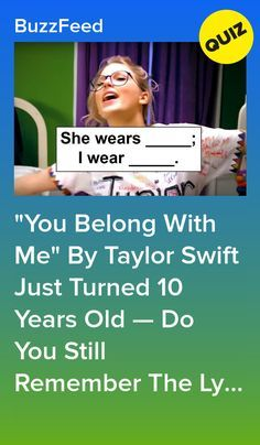 You got 45 out of 46 right! This song was probably your jam in And maaaybe you still go back and rewatch the video. Lucas Till is cute, okay? Taylor Swift Quiz, Taylor Swift Jokes, Young Taylor Swift, Taylor Swift Fearless, Song Lyrics Quiz, Me Too Lyrics, Buzzfeed Personality Quiz, Personality Quizzes, Friends Quizzes Tv Show