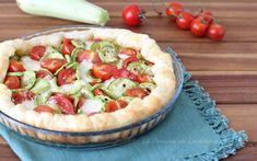 Torta salata con zucchine e pomodorini