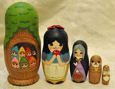 Snow White nesting dolls