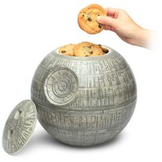 Death Star cookie jar. Beside the fact that it rhymes, it's a Star Wars cookie jar