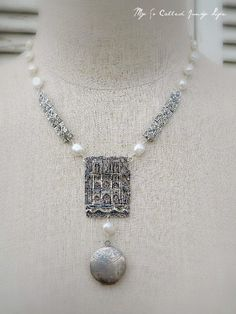 Notre Dame De Paris - Vintage/Antique Repurposed Necklace With Freshwater Pearls   Flickr - Photo Sharing!