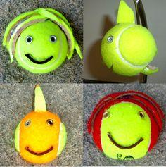 Tennis Ball Crafts.