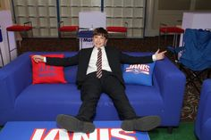 NY Giants Football Tailgate Theme Bar Mitzvah by The Event of a Lifetime - mazelmoments.com