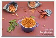 Flax Seeds Peanuts Podi (Powder)