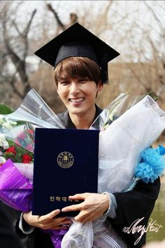 This photo is nice because it shows his excitement of finishing school.