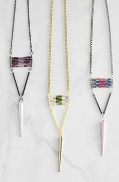 This Chelsea Dagger DIY Necklace is an edgy, but still feminine, DIY jewelry project that you can make easily in an evening.
