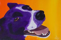 """""""Crazy Charlie""""  Acrylic painting - sold"""
