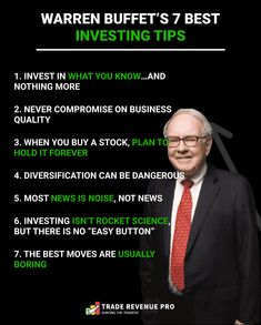 Investment Quotes, Investment Tips, Warren Buffett Portfolio, Warren Buffet Quotes, Financial Quotes, Trading Strategies, Marketing Quotes, Money Quotes, Investing Money