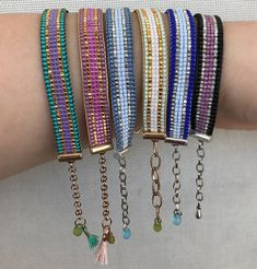 Loom Bracelet Patterns, Bead Loom Patterns, Beaded Jewelry Patterns, Beading Patterns, Beaded Braclets, Bead Loom Bracelets, Jewelry Crafts, Handmade Jewelry, Bijoux Diy