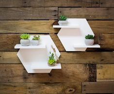 Hexagon Shelf Set for Wall Home Decoration White Shelves for Wall Plant Holder Minimalist Style Room Wall Decor Artwork (Item House Plants Decor, Plant Decor, Wood Projects, Woodworking Projects, Hexagon Shelves, Geometric Shelves, Honeycomb Shelves, Regal Design, Wall Shelves Design