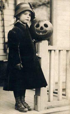 My favorite little Vintage Trick or Treat Girl