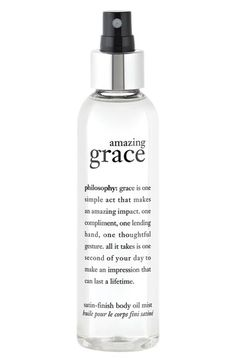 philosophy 'amazing grace' satin-finish body oil mist available at #Nordstrom
