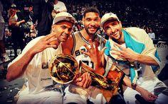 T. Parker, T. Duncan, M. Ginobili. The Big Three.