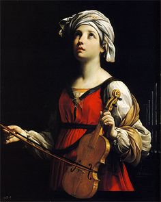 paintingses:  Saint Cecilia by Guido Reni (1575-1642) oil on canvas, 1606