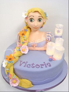 Tangled Rapunzel Cake by Pastrychik, via Flickr