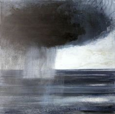 Kurt Jackson Half way in quote from Goldsworthy, 'art cannot exist away from its place,' in opposition to reading ( may where art is able to speak to universal concerns, it's place being within it and of it Kurt Jackson, Abstract Landscape, Landscape Paintings, Abstract Art, Van Gogh, St Just, Monochrom, Art Uk, Sky And Clouds
